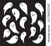 funny ghost collection   Shutterstock .eps vector #1179903742