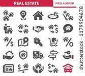 real estate icons. professional ... | Shutterstock .eps vector #1179904678