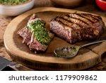 a delicious medium rare fire... | Shutterstock . vector #1179909862