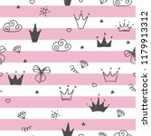 hand drawn seamless pattern... | Shutterstock .eps vector #1179913312