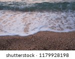 sea wave on a blurred... | Shutterstock . vector #1179928198