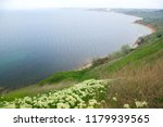 sea view from the high shore   Shutterstock . vector #1179939565