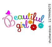 beautiful girl. vector colorful ... | Shutterstock .eps vector #1179949075