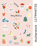 special christmas elements  new ... | Shutterstock .eps vector #1179949735