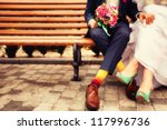 Bride And Groom In Bright...