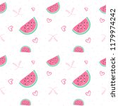 watermelon seamless pattern... | Shutterstock .eps vector #1179974242