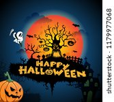 happy halloween background... | Shutterstock .eps vector #1179977068