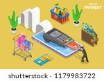 flat isometric vector concept... | Shutterstock .eps vector #1179983722