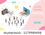 inbound vs outbound marketing... | Shutterstock . vector #1179989698