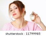 beautiful woman applying... | Shutterstock . vector #11799985