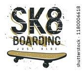 skateboard t shirt design .... | Shutterstock .eps vector #1180006618