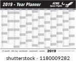 year planner calendar 2019  ... | Shutterstock .eps vector #1180009282