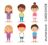 group of little kids characters   Shutterstock .eps vector #1180010458