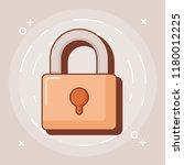 padlock icon image | Shutterstock .eps vector #1180012225
