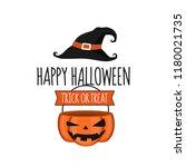 invitation card halloween party ... | Shutterstock .eps vector #1180021735