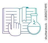 text book with hand and tube... | Shutterstock .eps vector #1180027495