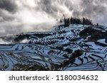 yuanyang rice terraces in... | Shutterstock . vector #1180034632