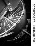 industrial stairs indoor | Shutterstock . vector #1180038202