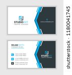 simple business card  name card ... | Shutterstock .eps vector #1180041745
