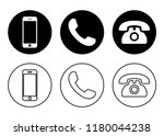 phone icon vector. call icon... | Shutterstock .eps vector #1180044238