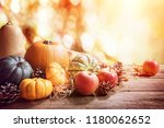 thanksgiving  fall or autumn... | Shutterstock . vector #1180062652