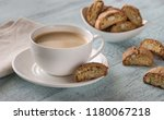 cup of coffee with cantuccini | Shutterstock . vector #1180067218