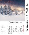 2013 Calendar. December....