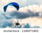Powered Parachute In The Clouds