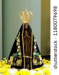 statue of the image of our lady ... | Shutterstock . vector #1180079698