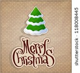 christmas and new year. vector... | Shutterstock .eps vector #118008445