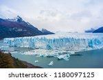 perito moreno glacier ... | Shutterstock . vector #1180097125