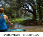 Healthy Woman Relaxing While Meditating - Fine Art prints