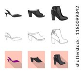 vector illustration of footwear ... | Shutterstock .eps vector #1180099342