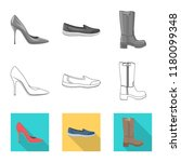 vector design of footwear and... | Shutterstock .eps vector #1180099348