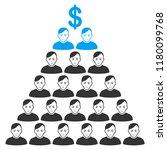 ponzi pyramid scheme flat... | Shutterstock .eps vector #1180099768
