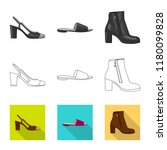 isolated object of footwear and ... | Shutterstock .eps vector #1180099828