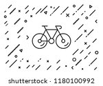 bicycle for health concept.... | Shutterstock .eps vector #1180100992