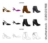 vector design of footwear and... | Shutterstock .eps vector #1180101988