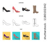 isolated object of footwear and ... | Shutterstock .eps vector #1180102342