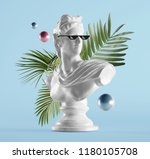 statue background concept | Shutterstock . vector #1180105708