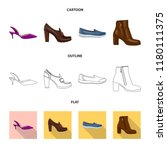 isolated object of footwear and ... | Shutterstock .eps vector #1180111375