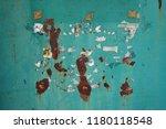old iron door painted green... | Shutterstock . vector #1180118548