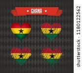ghana. collection of four... | Shutterstock .eps vector #1180122562