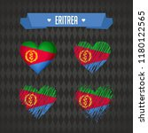 eritrea. collection of four... | Shutterstock .eps vector #1180122565