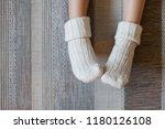 legs of little child girl is in ... | Shutterstock . vector #1180126108