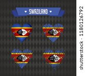 swaziland heart with flag... | Shutterstock .eps vector #1180126792