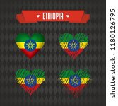 ethiopia with love. design... | Shutterstock .eps vector #1180126795