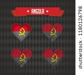 angola. collection of four... | Shutterstock .eps vector #1180126798