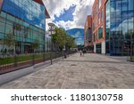 the newly opened forum shopping ... | Shutterstock . vector #1180130758