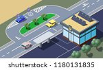 modern ukrainian public... | Shutterstock .eps vector #1180131835